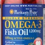 Puritan Double Strength Omega-3 Fish Oil 1200 mg 90 Softgels (USA) บำรุงสมองกระตุ้นความจำ ลดไขมันและอาการปวดข้อ (มี Omega-3 2 เท่า จึงดีกว่าทุกยี่ห้อ) สำเนา