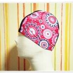 หมวกว่ายน้ำ แฟชั่น สีชมพู ลายไทย ๆ สวยเก๋ ราคาถูก no sc005