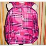 กระเป๋าเป้ ใส่ Notebook สีชมพูเข้ม Kipling ลายสก๊อต