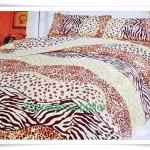 6 ฟุต 3 ชิ้น ชุดเครื่องนอน ผ้าปูที่นอน สีน้ำตาลอ่อน ลายคลาสสิค B102