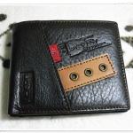กระเป๋าสตางค์ Levis หนังแท้ ใบสั้น แต่งแถบกลาง Le5609