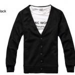 เสื้อกันหนาวผู้ชาย เสื้อใส่คลุมในออฟฟิต เสื้อคลุมแขนยาว ไหมพรม สำหรับผู้ชาย สวยเรียบ มีสไตล์ ใส่ได้ทุกวัน สีดำ no 603068