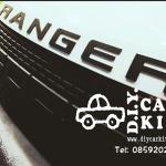 โลโก้ RANGER ติดฝากระโปรงรถ(มี3สีแดง,ดำ,โครเมียม)