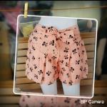 กางเกงแฟชั่น ผ้าโซ่ลอน พิมลายสวย น่ารัก