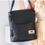 กระเป๋าสะพายข้าง ผู้หญิง ใส่ Ipad Tablet หนัง Pu กันน้ำได้ ขนาดพอดี สีลูกกวาด หวาน ๆ สีดำ no 68769