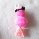 พวงกุญแจปอมปอมมินนี่เม้าส์ pompoms crochet keychain