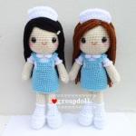 """ตุ๊กตาถัก พยาบาลนักศึกษา ฝึกงาน 9"""""""