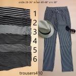 **สินค้าหมด trousers410 กางเกงขายาวเอวยืด กระเป๋าข้าง ผ้านิ่มลายริ้วยืดได้เยอะ โทนสีขาวดำ