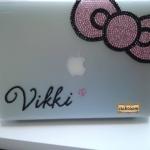 Case MacBook Pro เคสคริสตัลประดับโบว์น่ารักสวยมุ้งมิ้งที่สุด เลือกสีสั่งทำสลักชื่อได้ตามใจ ID: A307