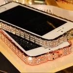 เคส iphone 5 5S เคสคริสตัล อย่างหรู ดีไซน์ เป็นงู รอบตัวเคส เคสหรู จาก BVLGARI เคสไฮโซ สี Rose Gold เงิน และ สีทอง 245737