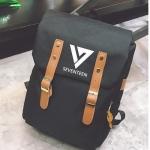 กระเป๋าเป้ SEVENTEEN สีดำ