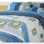 5 ฟุต 3 ชิ้น ชุดเครื่องนอน ผ้าปูที่นอน สีฟ้า b001