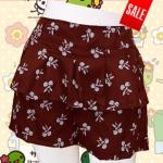 กางเกงแฟชั่น ผ้าโซ่ลอน พิมลายเชอรี่