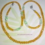 (ขายแล้วค่ะ) M011 สายคล้องแว่นตา(คริสตัลโมดาร์) เหลือง