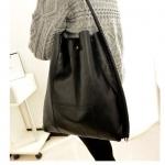 กระเป๋าถือผู้หญิง กระเป๋าถือ หนัง Pu กันน้ำ แบบเรียบ ๆ ใช้ได้ทุกงาน กระเป๋าใส่ของได้เยอะ แข็งแรงทนทาน ทรงตรง สี เขียว และ สีดำ 780324