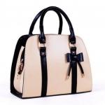 กระเป๋าถือผู้หญิง กระเป๋าหนัง แฟชั่น ดีไซน์ ติดโบว์ กระเป๋าถือวัยรุ่น หูหิ้ว สีดำ แต่งโบว์ ใส่ออกงาน กระเป๋าถือ ใส่ของ สาวออฟฟิต 1009348