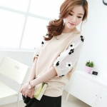 Best N Eve เสื้อ รุ่น Y-56B1 - Pale Pink Top with Flower