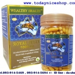 royal jelly wealthy health รอยัล เจลลี่ 1000 มก.จากนมผึ้ง6%สูตรเข้มข้น เพื่อสุขภาพที่ดีจากภายในสู่ภายนอก