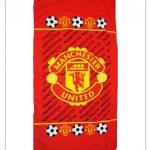 ผ้าเช็ดตัว ผ้าขนหนู ผืนใหญ่ 5 ฟุต ลายทีมฟุตบอล Man u m023