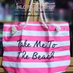 Victoria's Secret Limited Edition Tote (สีชมพูลายขาว)