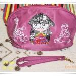 กระเป๋าใส่ของ กระเป๋าใส่เครื่องสำอางค์ Marc By Marc Jacob โทนสีม่วงใบกลาง