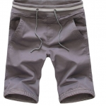 กางเกงขาสั้นผู้ชาย กางเกงขาสามส่วน กางเกงแฟชั่น สีเทา ยอดนิยม Matt ได้กับเสื้อทุกสี กางเกงวัยรุ่น เท่ ๆ เอวยางยืด ใส่เที่ยว ใส่อยู่บ้าน มีสไตล์ 641470_5