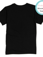 blouse3406 (ปลีก140/ส่ง89) Black T-shirt เสื้อยืดผ้าคอตตอน (Cotton 100%) คอกลม แขนสั้น สีดำล้วน Size S