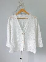 เสื้อคลุมลูกไม้สีขาว See Star
