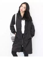 เสื้อกันหนาวสาวอวบ XL-5XL แจ็คเก็ตเสื้อกันลมบางและส่วนยาว