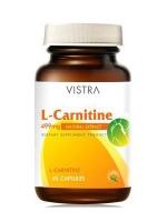 แอล-คาร์นิทีน 499mg.VISTRA L- Carnitine 45แคปซูลภาวะโรคอ้วนลงพุงและช่วยลดน้ำหนักทั้ง 7 ขั้นตอน