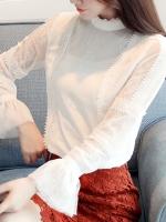 เสื้อเชิ้ตผ้าชีฟองลูกไม้
