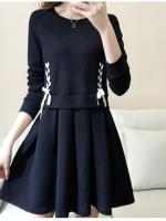 เดรสสาวอวบ สีดำ XL-5XL