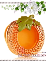 Bath & Body Works - Slatkin & Co / Scentportable Holder (Orange Bling Pumpkin)