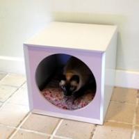 บ้านสุนัขและแมว MDF ขนาด กว้าง 35 ซม. X ยาว 35 ซม. X สูง 35 ซม.