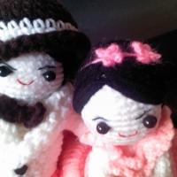 ตุ๊กตาแต่งงานถักโครเชต์