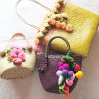 กระเป๋าสาน basket weave bags