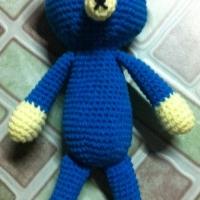 ตุ๊กตาน้องหมีน่ารักๆ สีน้ำเงินขาว