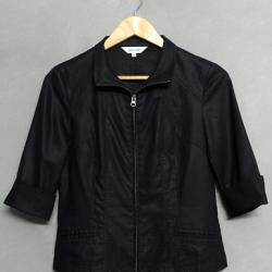 เสื้อคลุมสีดำ ซิปหน้า ensuite