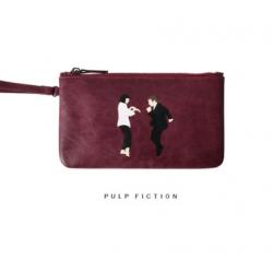กระเป๋าคล้องมือหนัง สีแดง แนวๆเก๋ๆ พร้อมส่ง
