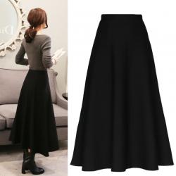 Skirt331 กระโปรงยาวทรงสวยซิปหลังสีพื้นดำ มีซับในอย่างดี ผ้าเนื้อดีหนาสวยมีน้ำหนักทิ้งตัว งานดีดูสวยแพง แมทช์กับเสื้อทรงไหนก็เริดจ้า