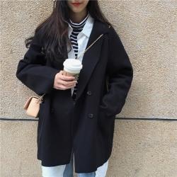 เสื้อโค้ทคลุม สไตล์เกาหลี ผ้าดีทิ้งตัวมีน้ำหนัก กันลมได้ดี เหมาะใส่ไปอากาศไม่หนาวมาก แบบน่ารักเกาหลีสุดๆ (ในไทยใส่ในห้องแอร์ได้น้า)