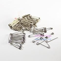 เข็มกลัดซ่อนปลาย (safty pin) สีเงิน