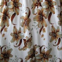 ผ้าห่มเนื้อสำลีขนนุ่ม ลายดอกไม้บนพื้นขาว (ฟรีค่าส่ง)