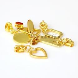 หัวซิปเหล็ก#5 สีทอง-สีเงิน