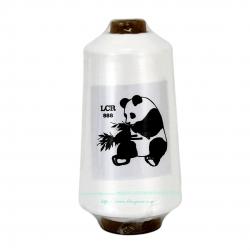 ด้ายฟูตราหมีแพนด้า 250 กรัม สีขาว (บาง)