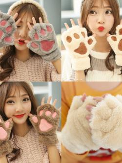 ถุงมือกันหนาว ขนแมวนุ่มๆ ใครชอบแนวแบ๊วๆ ห้ามพลาด
