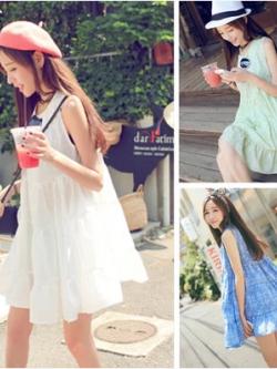 เสื้อตัวยาว/ mini dress สุดน่ารัก ผ้าฝ้ายปักลายหวานๆ พร้อมส่ง