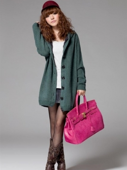 เสื้อกันหนาวฮู้ดดี้ แฟชั่นเกาหลี ผ้าถัก ด้านในเป็นขนนิ่มตัวยาว คุณภาพดี เนื้อผ้าตามแบบ พร้อมส่ง
