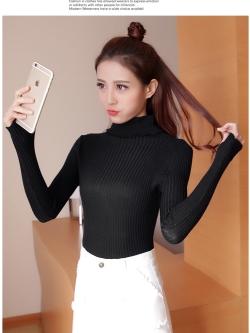 สีดำ : เสื้อสเวตเตอร์ ไหมพรมคอเต่าพับได้ ผ้าร่อง ยืดได้เยอะ หุ้มถึงมือ พร้อมส่ง