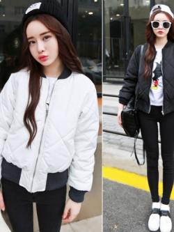 เสื้อโค้ทกันหนาว ปักลายตาราง ผ้าโพลิเนื้อดีกันลม ซิปหน้า จั๊มเอวจั๊มแขน น่ารัก เกาหลีมากๆ